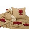81. papaveri, trapunta, tessuto e cuscino